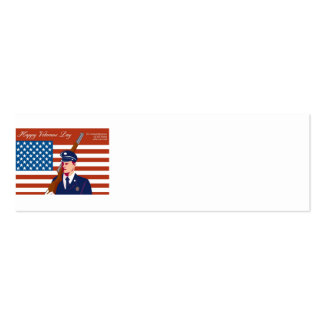 American Veterans Day Greeting Card Retro Business Cards
