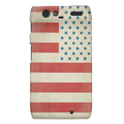 American Vintage Civilian Flag Case-Mate Case Motorola Droid RAZR Case