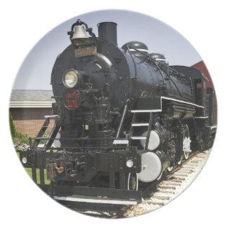 American Vintage Steam Train Plate