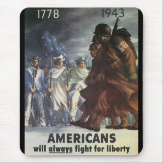 American Vintage War Poster Mouse Pad