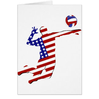American Volleyball Player Greeting Card