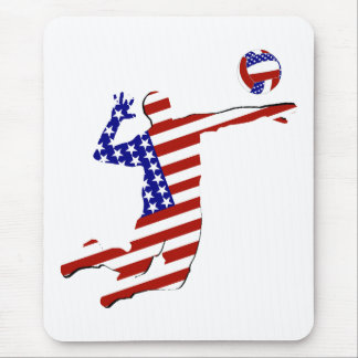 American Volleyball Player Mouse Pad