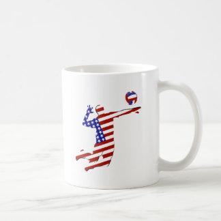 American Volleyball Player Mugs