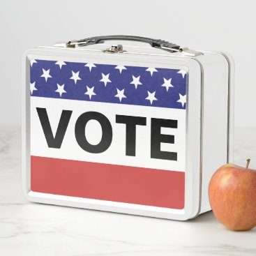American Vote Metal Lunch Box