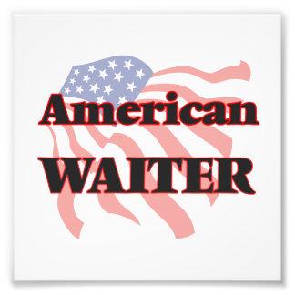 American Waiter Photo Print