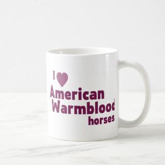 American Warmblood horses Classic White Coffee Mug
