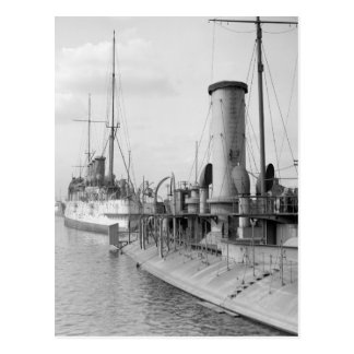 American Warships in Philly, 1910 Postcard