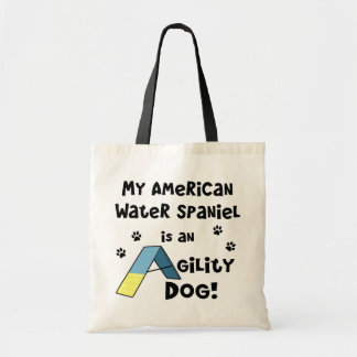 American Water Spaniel Agility Dog Budget Tote Bag
