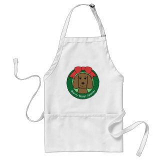 American Water Spaniel Christmas Adult Apron