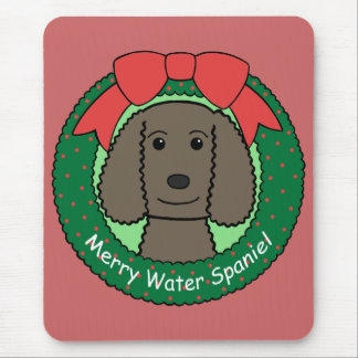American Water Spaniel Christmas Mouse Pad