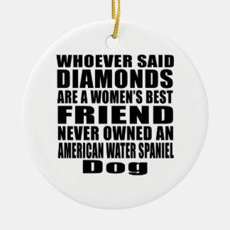 AMERICAN WATER SPANIEL DOG BEST FRIEND DESIGNS CERAMIC ORNAMENT