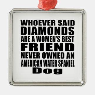 AMERICAN WATER SPANIEL DOG BEST FRIEND DESIGNS METAL ORNAMENT
