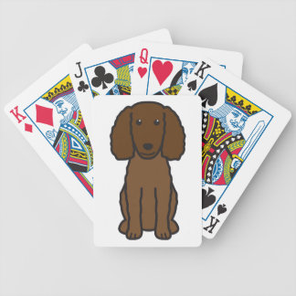 American Water Spaniel Dog Cartoon Bicycle Playing Cards