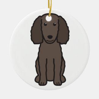 American Water Spaniel Dog Cartoon Ceramic Ornament