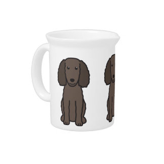American Water Spaniel Dog Cartoon Drink Pitcher