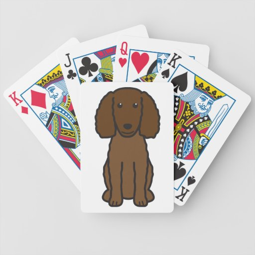 American Water Spaniel Dog Cartoon Playing Cards