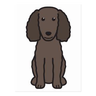 American Water Spaniel Dog Cartoon Postcard