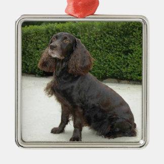 American Water Spaniel Dog Metal Ornament