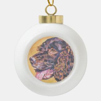 American Water Spaniel Fine Art Painting Ceramic Ball Christmas Ornament