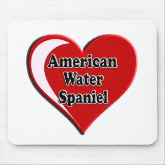 American Water Spaniel Heart for Dog Lovers Mousepads