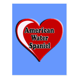 American Water Spaniel Heart for Dog Lovers Postcard
