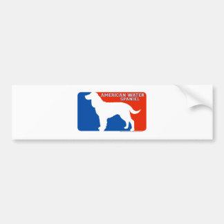 American Water Spaniel Major League Dog Bumper Sti Car Bumper Sticker