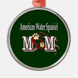 american water spaniel mom metal ornament
