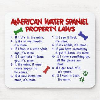 AMERICAN WATER SPANIEL Property Laws 2 Mouse Pads