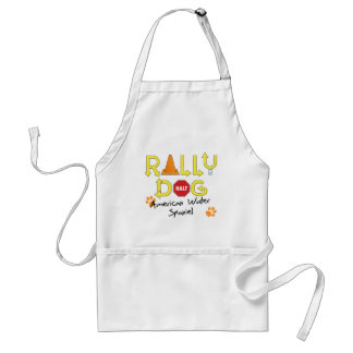 American Water Spaniel Rally Dog Adult Apron