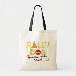 American Water Spaniel Rally Dog Canvas Bags