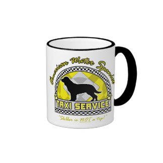 American Water Spaniel Taxi Service Coffee Mugs