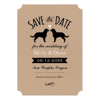 American Water Spaniels Wedding Save the Date Card