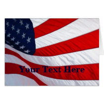 American Waving Flag Greeting Card 2