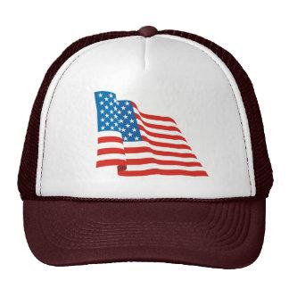 American Waving Flag Trucker Hat