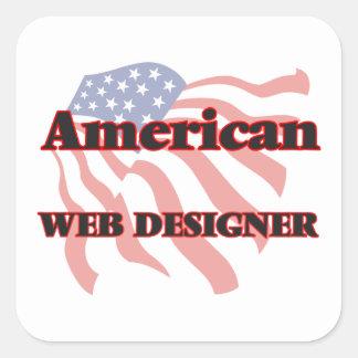 American Web Designer Square Sticker