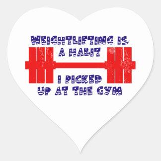 American Weightlifting Habit Heart Sticker