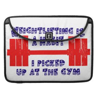 American Weightlifting Habit Sleeves For MacBook Pro