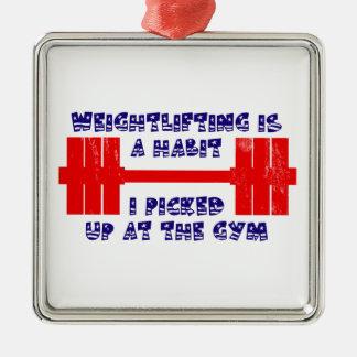 American Weightlifting Habit Metal Ornament