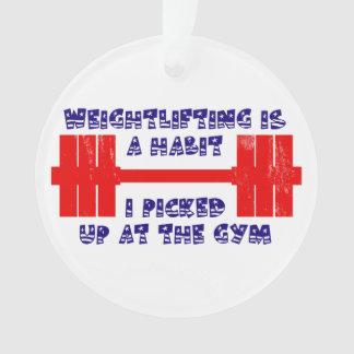 American Weightlifting Habit Ornament