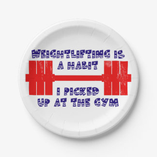 American Weightlifting Habit Paper Plate