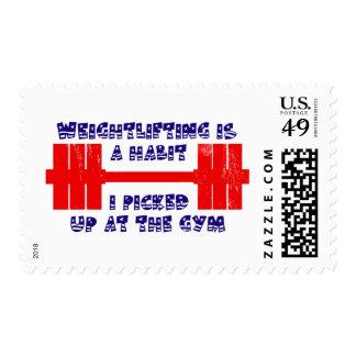 American Weightlifting Habit Stamp