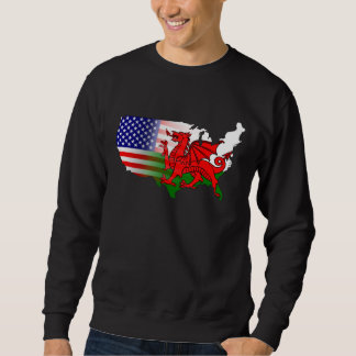 American Welsh Flags Map Sweatshirt