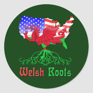 American Welsh Roots Stickers