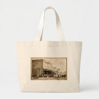 American West Street Scene 1867 Canvas Bag