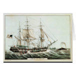 American Whaler, engraved by Nathaniel Currier Card