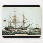 American Whaler, engraved by Nathaniel Currier Mouse Pad