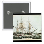American Whaler, engraved by Nathaniel Currier Pinback Button