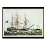 American Whaler, engraved by Nathaniel Currier Post Cards
