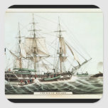 American Whaler, engraved by Nathaniel Currier Square Sticker