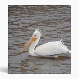 American White Pelican In Breeding Condition Binder